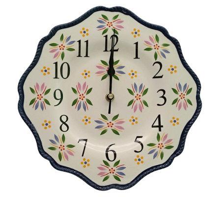 Temp Tations Old World 10 5 Ceramic Clock