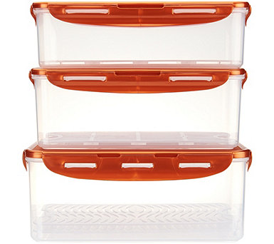 Lock & Lock 3-Piece Storage Set with Removable Tray Inserts - K45536