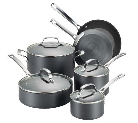 Circulon Genesis Hard-Anodized 10-Piece Cookware Set