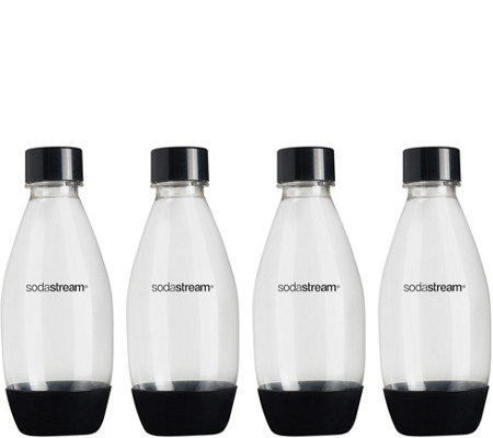 SodaStream 0.5-liter Source Plastic Bottles - Black, 4-Pack