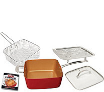 "Red Copper 5-pc 10"" Square Pan Set - K375637"
