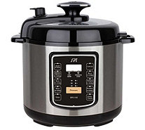 SPT 6.5-qt Stainless Pressure Cooker w/ Quick Release Button - K376737