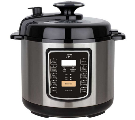 SPT 6.5-qt Stainless Pressure Cooker w/ Quick Release Button