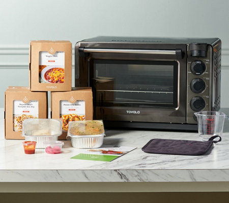 Tovala Smart Steam Countertop Oven w/ 4 Vegetarian Meal Kits