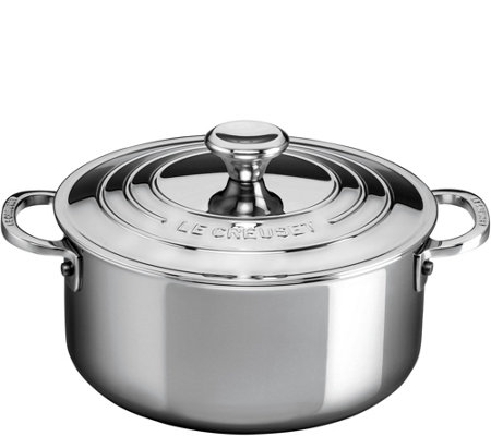 Le Creuset Stainless Steel 3-1/5 qt Shallow Casserole