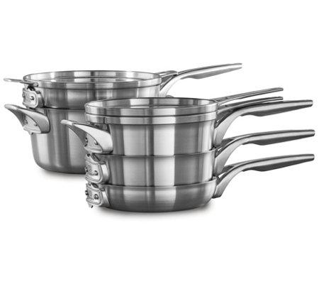Calphalon Premier Space Saving 8 Piece Cookwareset