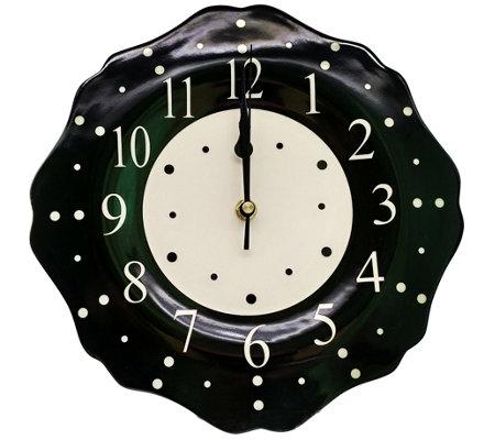 Temp Tations Polka Dot 10 5 Ceramic Clock