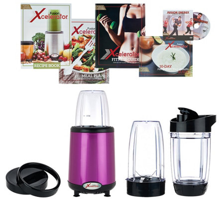 Fusion Xcelerator 1000W Blender w/ Travel Cups & Recipe Book