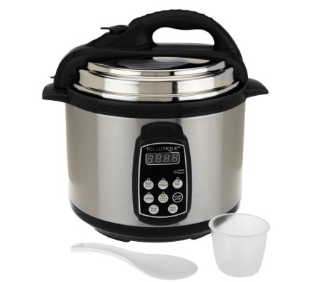 Technique 4 qt. Round Digital Stainless Steel Pressure Cooker