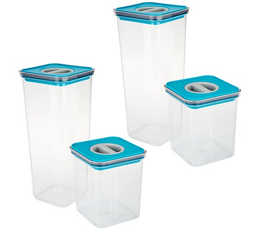 Neoflam 4-Piece Tritan Storage Set with Smart Seal Lid