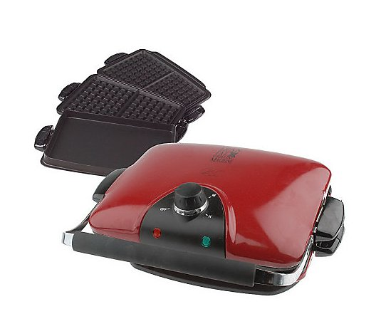 George Foreman G5 Grill With Interchangeable Grill Griddle Waffle Plates Qvc Com