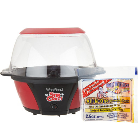 Stir Crazy 6 Qt Stirring Popcorn Popper W Party Pack Page 1