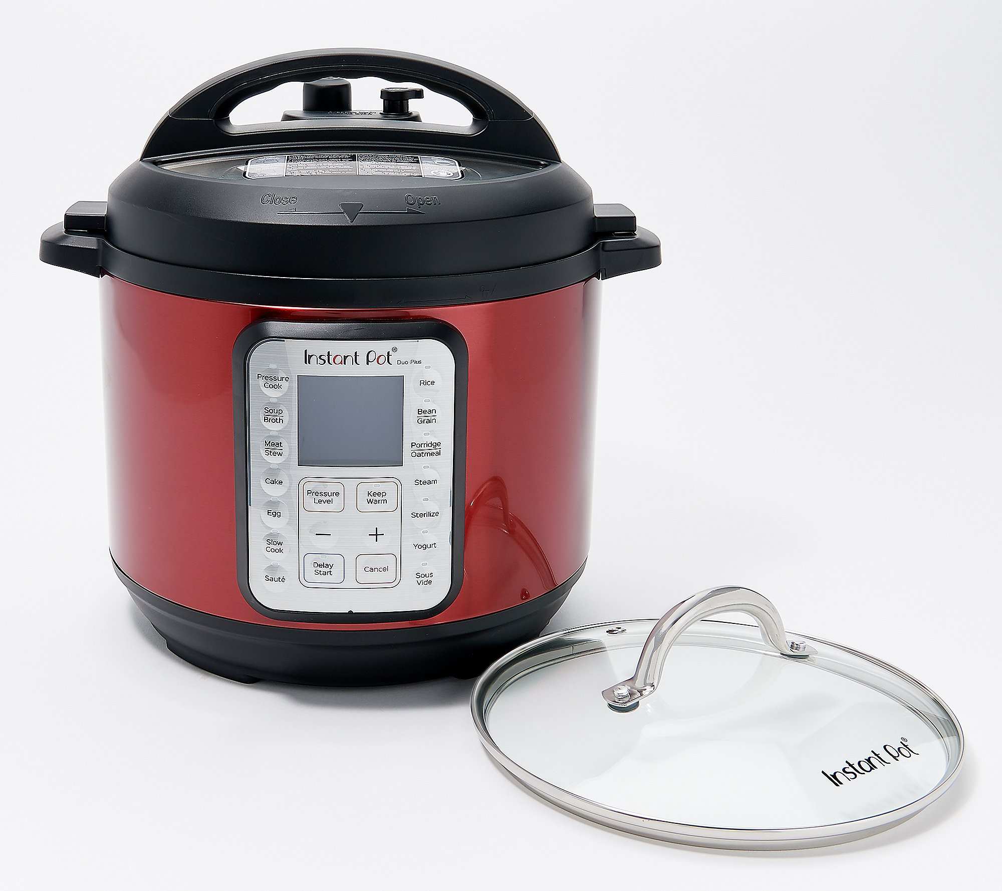 Instant Pot 6 Qt Duo Plus 9 In 1 Pressure Cooker With Glass Lid Qvc Com