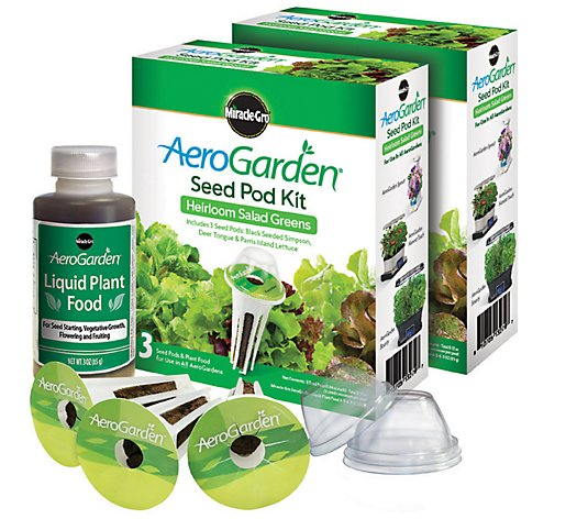 AeroGarden S/2 3-Pod Heirloom Salad Seed Pod Kits