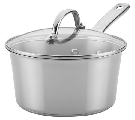 Ayesha Curry 3 Qt Stainless Steel Covered Sauce Pan