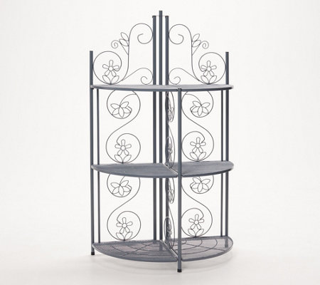 Temp Tations Collapsible Round Bakers Rack Qvc