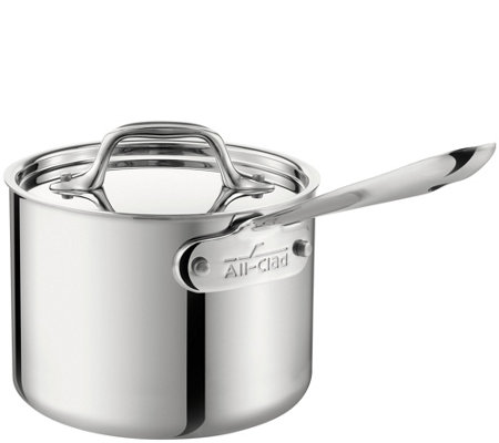 All-Clad Stainless 3-qt Saucepan with Lid