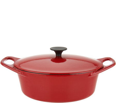 Rachael Ray 3.5-qt Cast Iron Oval Covered Dutch Oven