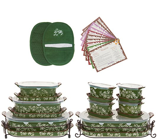 Temp-tations Floral Lace 21-Piece Bakeware Set