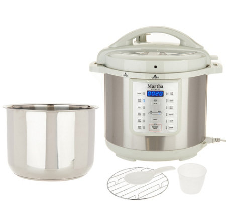 Martha Stewart 8 Qt 7 In 1 Digital Stainless Steel Pressure Cooker