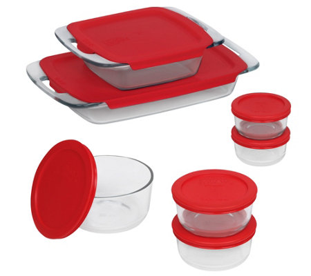 Pyrex Bake 'n Store 14-Piece Set with Handles