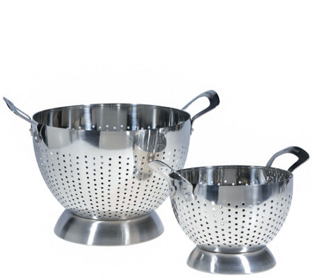 Epicurious 2-Piece Stainless Steel Colander Set