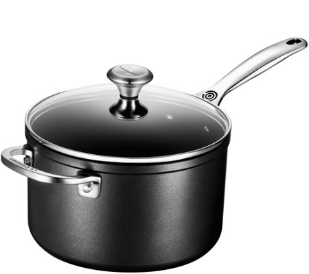 Le Creuset Nonstick 4-Qt Saucepan with Glass Lid