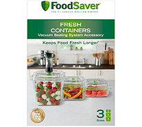 FoodSaver Fresh Vacuum Food Storage Containers- Set of 3 - K378844