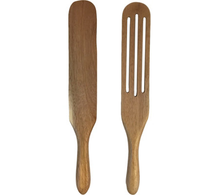 Mad Hungry 2-piece Solid & Slotted Acacia Wood Spurtle Set