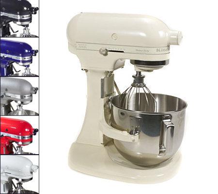 kitchenaid 5qt 325 watt heavy duty stand mixer with bowl lift qvc com rh qvc com