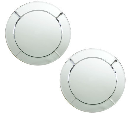 ChargeIt! by Jay Mirror Round Chargers - Set of2