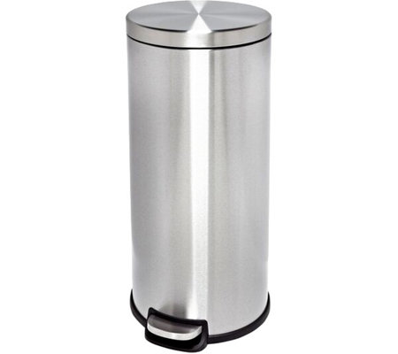 Honey-Can-Do 30-Liter Stainless Steel Step Trash Can