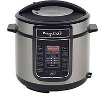 MegaChef 6-Quart Digital Pressure Cooker w/ 14Preset Features - K375247