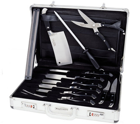 BergHOFF Forged Ergonomic 12-Piece Knife Set with Case
