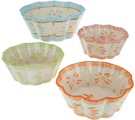 Temp-tations Old World 4-Piece Nesting Flower Bowl Set