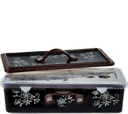 """As Is"" Temp-tations Floral Lace MultiFunctional Baker"