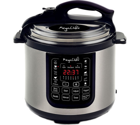 MegaChef 8-Quart Digital Pressure Cooker w/ 13Preset Features