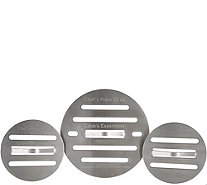 Cook's Essentials Stainless Steel Set of 3 Round Chef Presses - K45549