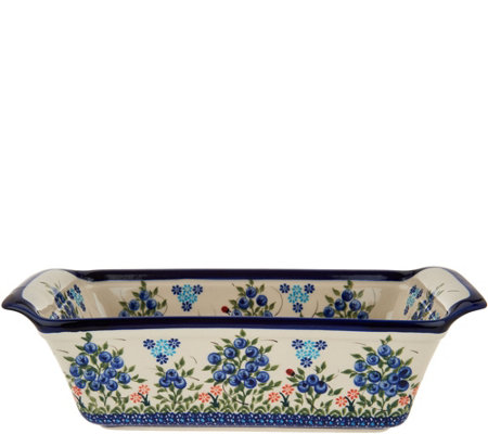 Lidia S Polish Pottery Hand Painted Loaf Pan