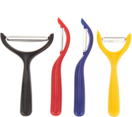 Cook's Essentials Set of 4 Peelers