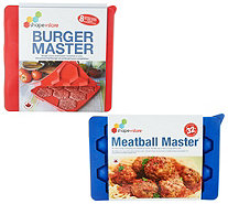 Shape + Store Set of 2 Burger and Meatball Masters - K47249