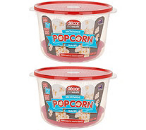 Decor Set of 2 Microwave Popcorn Popper - K48149