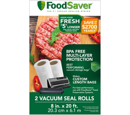 Foodsaver 8 X 20 Vacuum Seal Roll Set Of 2