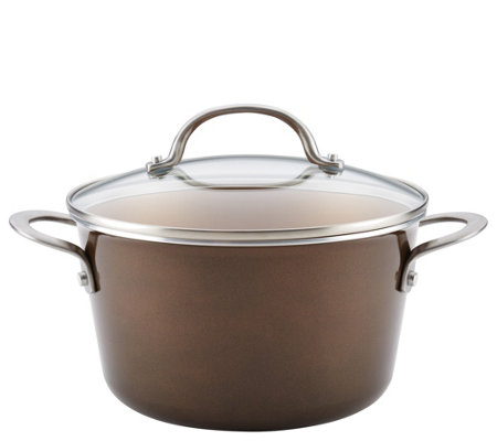 Ayesha Curry 4.5-qt Porcelain Enamel Nonstick Covered Saucepot