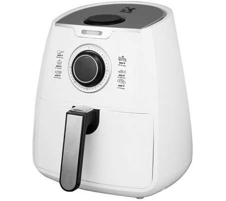 Kalorik 3.2-qt Air Fryer with Dual-Layer Rack i n White