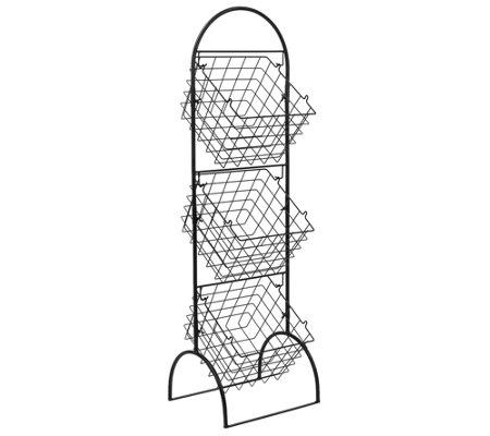 Sorbus 3 Tier Basket Stand