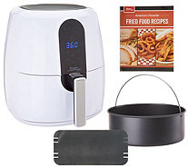 Power Air Fryer Elite 5.5-qt 6-in-1 Digital Air Fryer w/ Cake Pan - K48252
