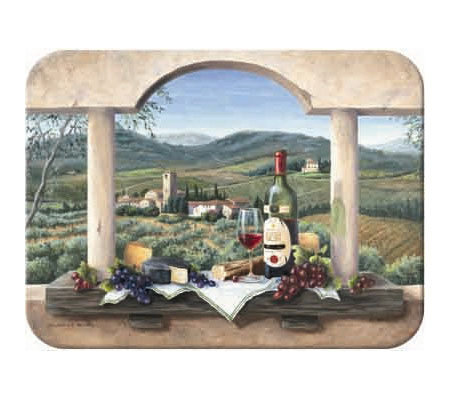 "Tuftop ""Wine Country"" Tempered Glass Kitchen Board"