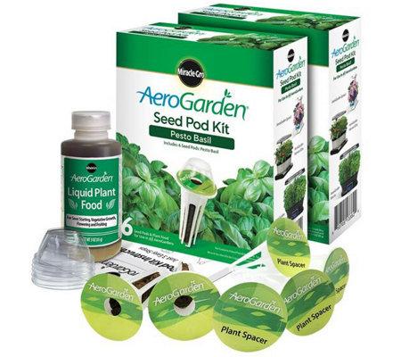 Aerogarden Set Of 2 6 Pod Pesto Seed Pod Kits