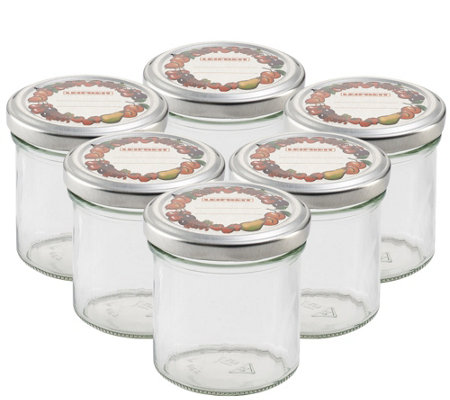 Leifheit Straight 5 6 Oz Small Canning Jars Set Of Six